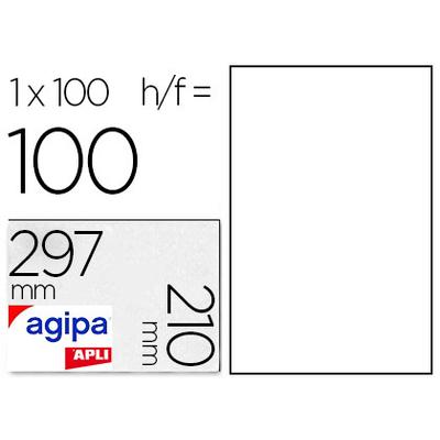 AGIPA ÉTIQUETTES  COINS DROITS 210x297mm