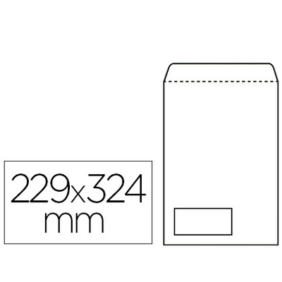 250 POCHETTES BLANCHES C4 FENÊTRE 50x100mm