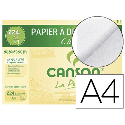 """C"" A GRAIN A4 224G POCHETTE DE 12"