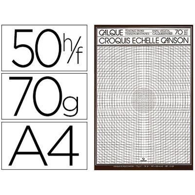 CANSON CALQUE 50 FEUILLES A4 70/75g