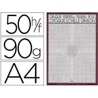 CANSON CALQUE 50 FEUILLES A4 90/95g