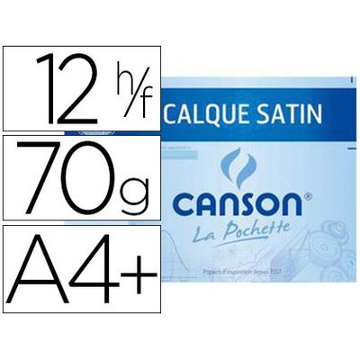 CANSON CALQUE 12 FEUILLES A4+ 70/75g