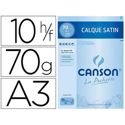 CANSON CALQUE 10 FEUILLES A3 70/75g