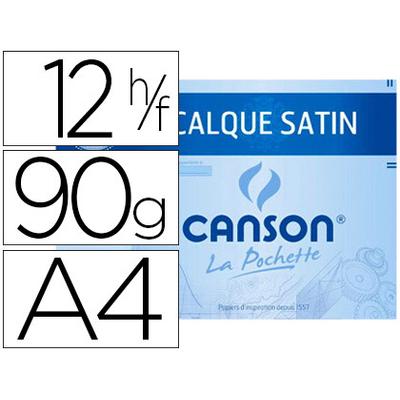 CANSON CALQUE 12 FEUILLES A4 90/95g