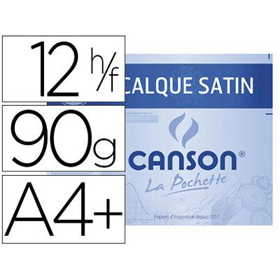 CANSON CALQUE 12 FEUILLES A4+ 90/95g