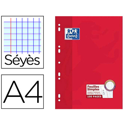 OXFORD A4 PERFORÉS PACK DE 100 FEUILLETS