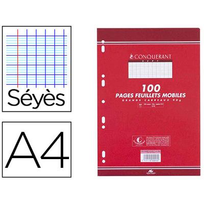 CONQUERANT A4 PERFORÉS PACK DE 100 FEUILLETS