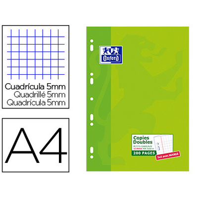 OXFORD A4 PERFORÉS PACK DE 200 COPIES DOUBLES