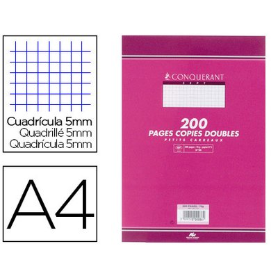 CONQUERANT A4 NON PERFORÉS PACK DE 200 COPIES DOUBLES
