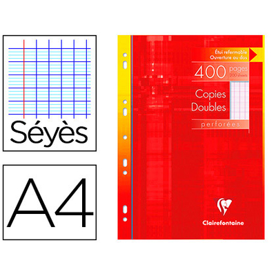CLAIREFONTAINE A4 PERFORÉS PACK DE 400 COPIES DOUBLES