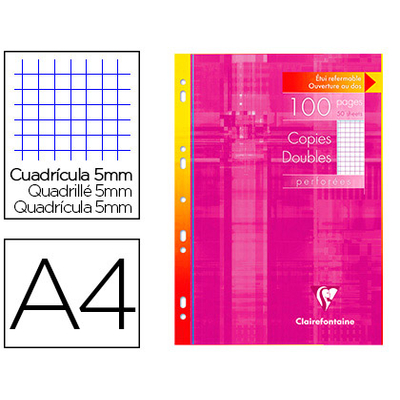 CLAIREFONTAINE A4 PERFORÉS PACK DE 100 COPIES DOUBLES