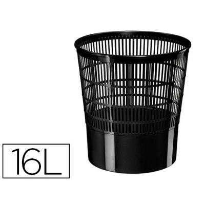 CORBEILLE PVC AJOURÉE NOIRE 16L