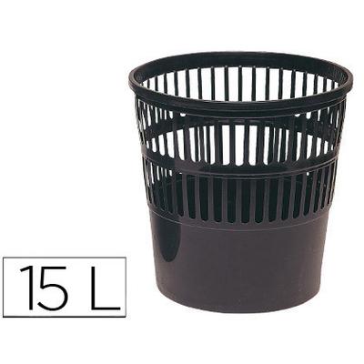 CORBEILLE PVC AJOURÉE NOIRE 15L