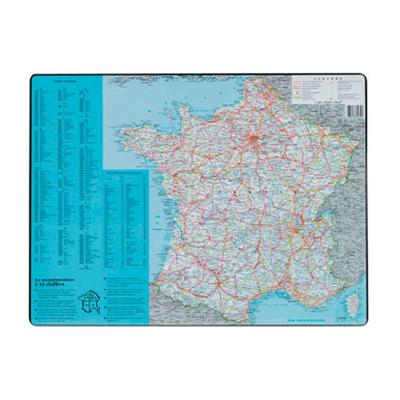 SOUS-MAINS PVC CARTE DE FRANCE 40x63.5cm