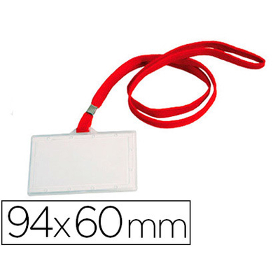 BADGE + LACET ROUGE 60X94MM
