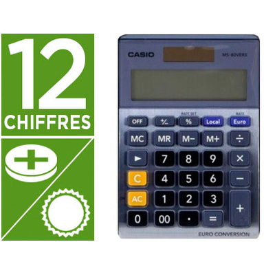 CASIO MS-120TER II 12 CHIFFRES