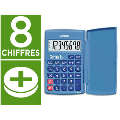 CASIO PETITE FX BLEU 8 CHIFFRES