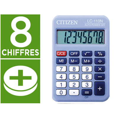 CITIZEN LC-110N BLEU 8 CHIFFRES
