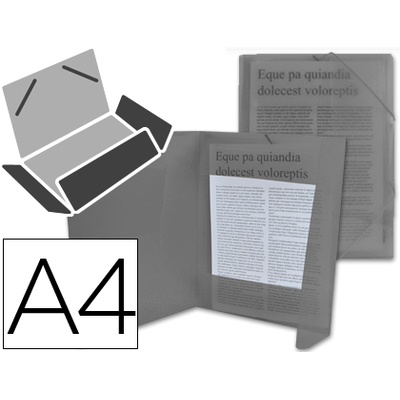 CHEMISE DOS FLEXIBLE A4 NOIR TRANSLUCIDE