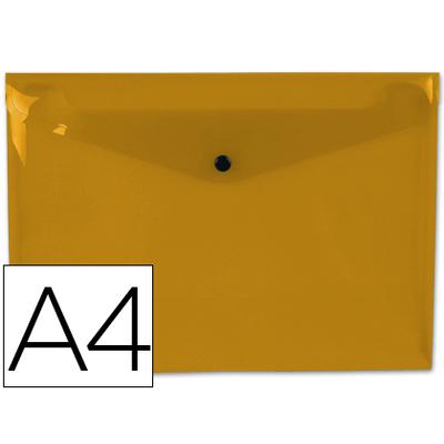 POCHETTE A4 ORANGE FROSTY TRANSPARENT