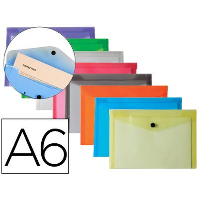 POCHETTE A6 ASSORTIS FROSTY TRANSPARENT PACK DE 12