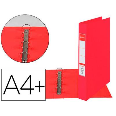 VIVIDA A4+ 4 ANNEAUX 25MM ROUGE