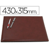 SOUS-MAINS SIMILI CUIR DOUBLE 43X31.5cm