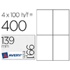 AVERY ÉTIQUETTES OPAQUES 99.1X139MM