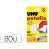 UHU PATAFIX BOITE DE 80 PASTILLES BLANCHES