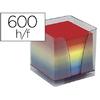BLOC CUBE PLEXIGLASS + BLOC ARC EN CIEL 600 FEUILLES