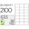 Q-CONNECT ÉTIQUETTES COINS ARRONDIS 63,5x38,5mm