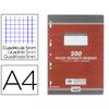 CONQUERANT 200 COPIES DOUBLES ROSES PERFORÉES 5x5 210x297mm