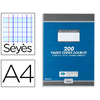 CONQUERANT 200 COPIES DOUBLES JAUNES PERFORÉES SEYES 210x297mm