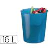 CORBEILLE PVC TRANSLUCIDE BLEU