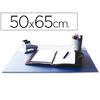 SOUS-MAINS PVC BLEU AVEC RABAT TRANSPARENT 50X65cm