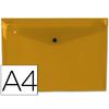 LIDERPAPEL POCHETTE A4 FROSTY ORANGE TRANSPARENT