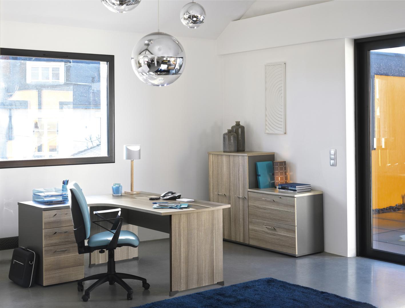 jazz ch ne gris pieds panneaux bureau 180cm mobilier par famille jazz ch ne gris. Black Bedroom Furniture Sets. Home Design Ideas