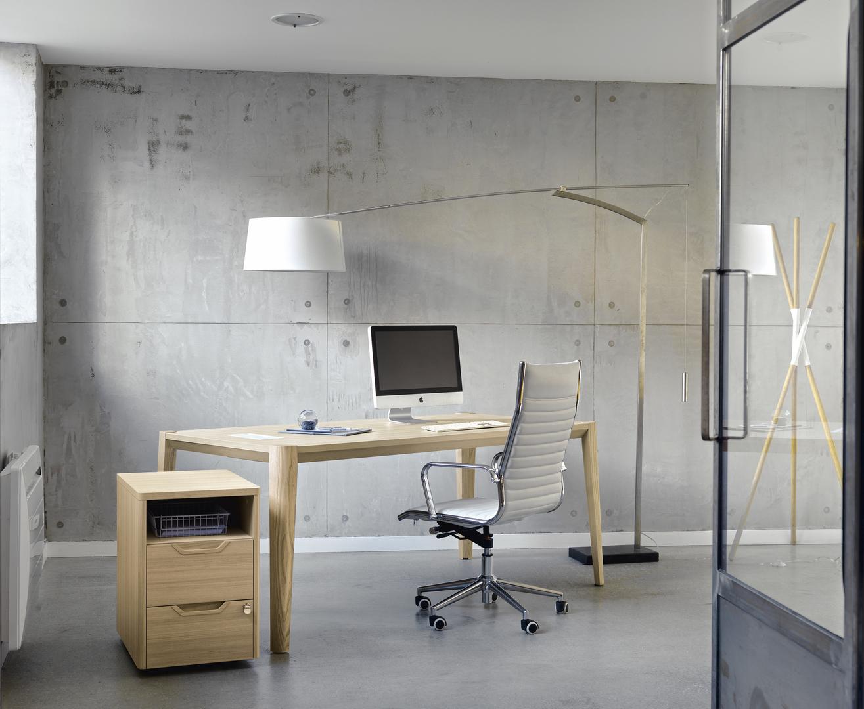 Absolu bureau blanc 180cm mobilier de direction par famille