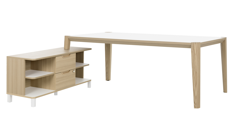 Absolu bureau blanc cm avec retour mobilier de direction par