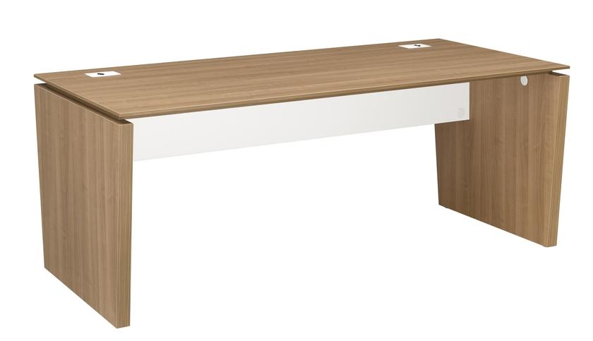 Xenon merisier bureau pieds panneaux largeur 170cm for Bureau 75 cm largeur
