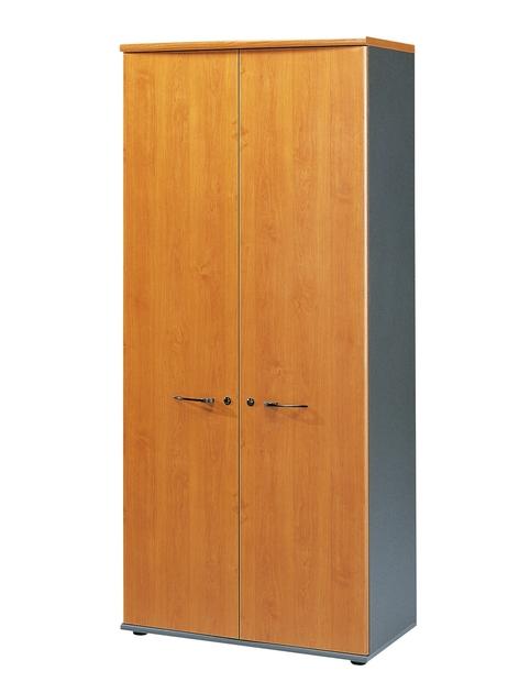 Jazz aulne armoire 2 portes 80cm rangements meubles for Meuble bureau gami jazz