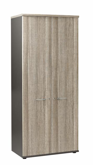 jazz ch ne gris armoire 2 portes 80cm rangements meubles armoires. Black Bedroom Furniture Sets. Home Design Ideas