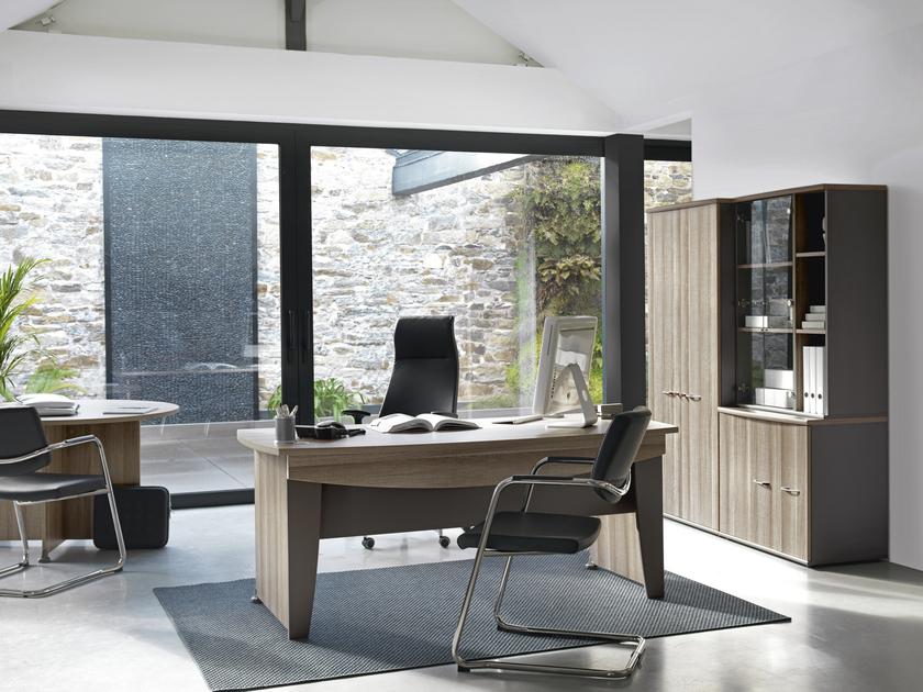 jazz ch ne gris pieds m tal bureau 160cm bureaux bureau. Black Bedroom Furniture Sets. Home Design Ideas