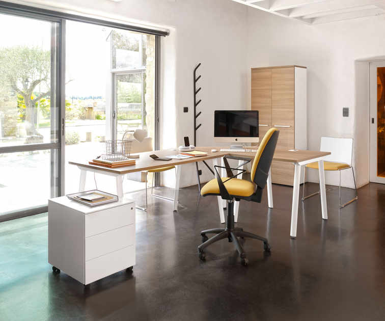 xerus merisier plan compact gauche 160cm bureaux bureau. Black Bedroom Furniture Sets. Home Design Ideas