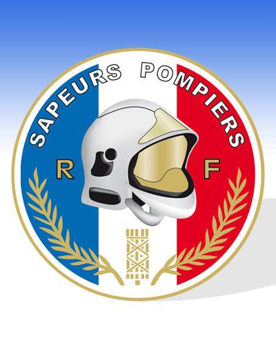 autocollant rond pompiers