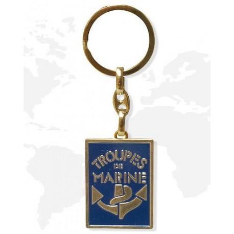 porte-cle-metal-troupes-de-marine