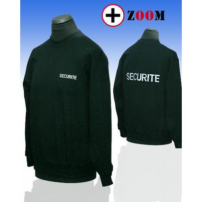 Sweat-Shirt brodé sécurité noir