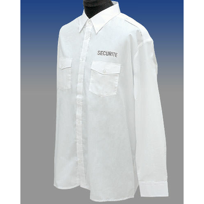 Chemise Brodée SECURITE manches longues
