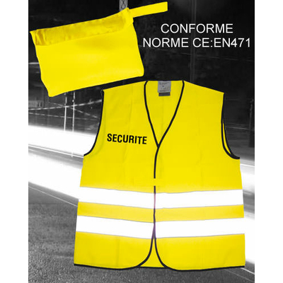 Gilet fluo haute visibilité SECURITE