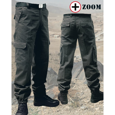 Pantalon militaire noir renforcé